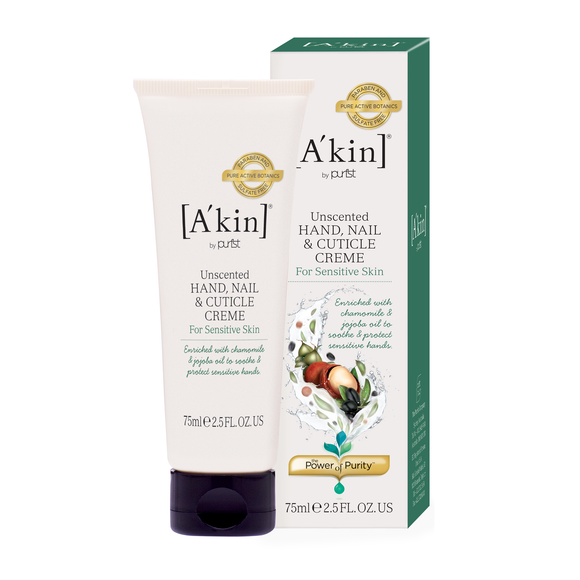 A'kin Unscented Intensive Hand, Nail & Cuticle Treatment 75ml