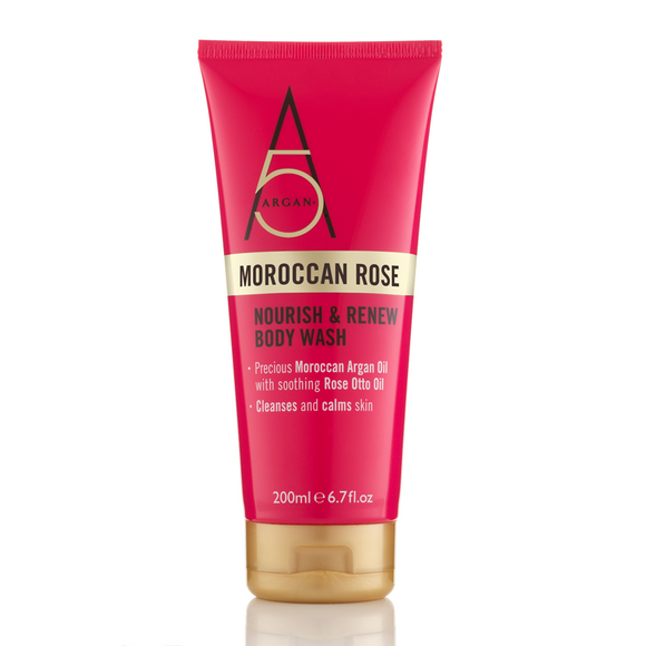 Argan+ Moroccan Rose Nourish & Renew Body Wash 200ml