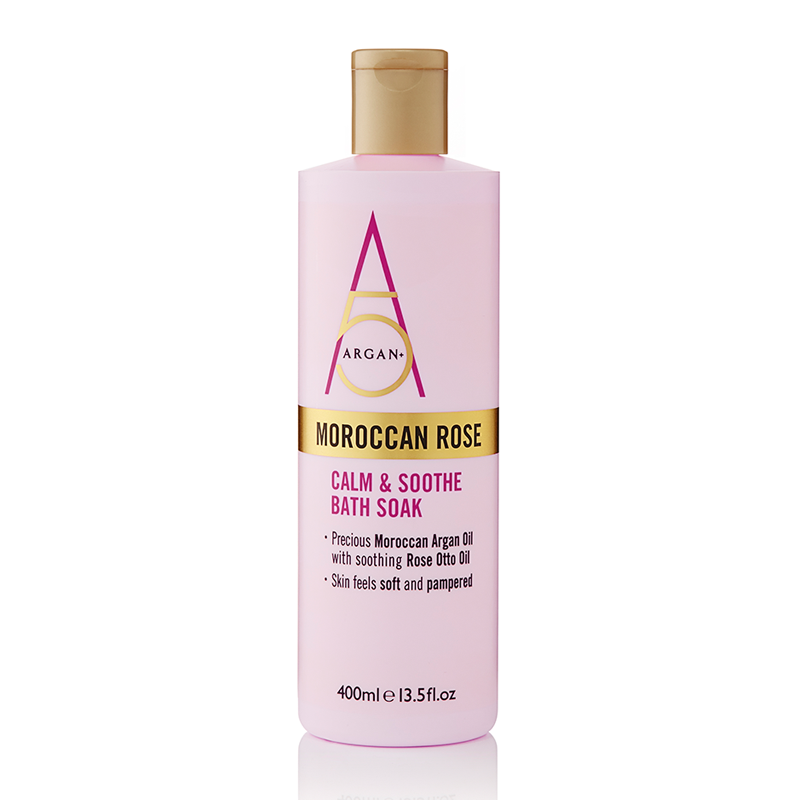 Argan+ Moroccan Rose Calm & Soothe Bath Soak 400ml