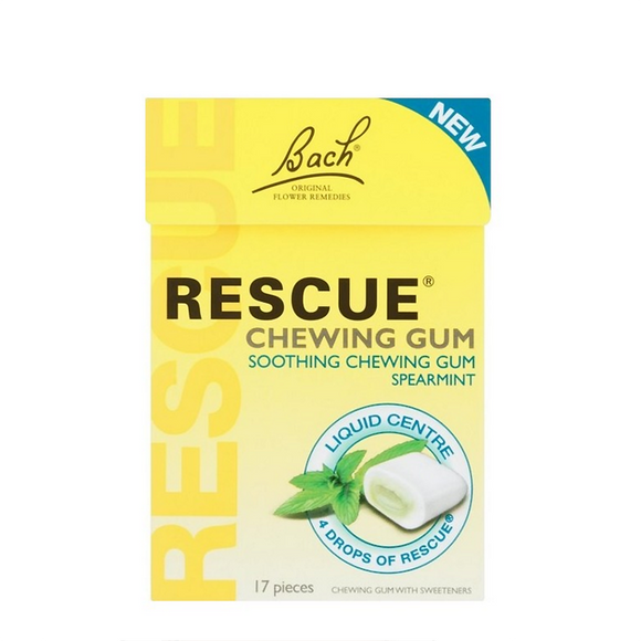 Bach Rescue Remedy Spearmint Solid Chewing Gum