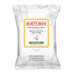 Burt's Bees® Sensitive Facial Cleansing Towelettes with Cotton Extract 30 Pack