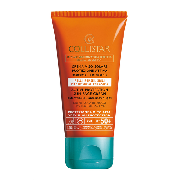 COLLISTAR Active Protection Sun Face Cream Anti-Wrinkle SPF50+ 50ml