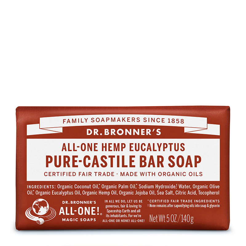 Dr Bronner's All-One Hemp Eucalyptus Pure-Castile Bar Soap 140g