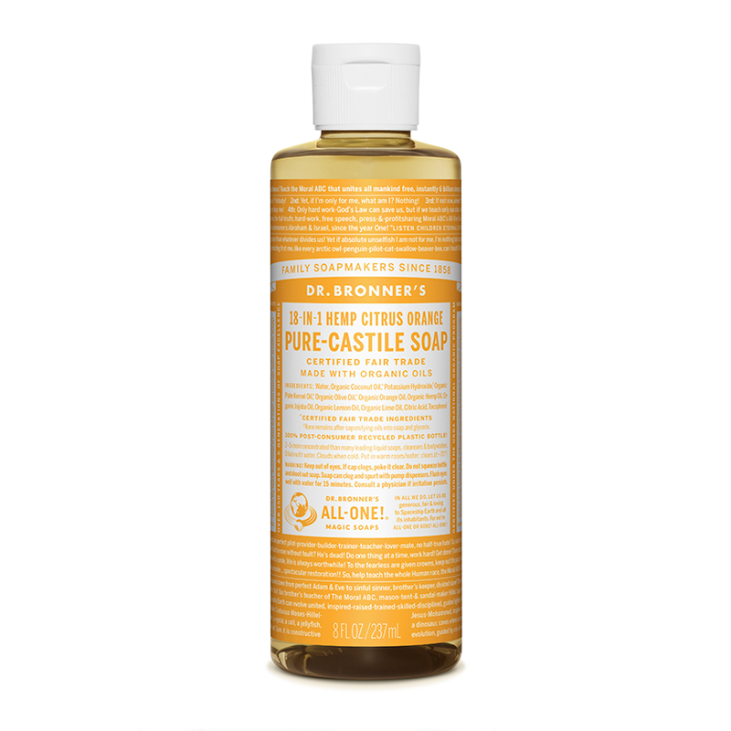 Dr Bronner's Organic Citrus Castile Liquid Soap 237ml