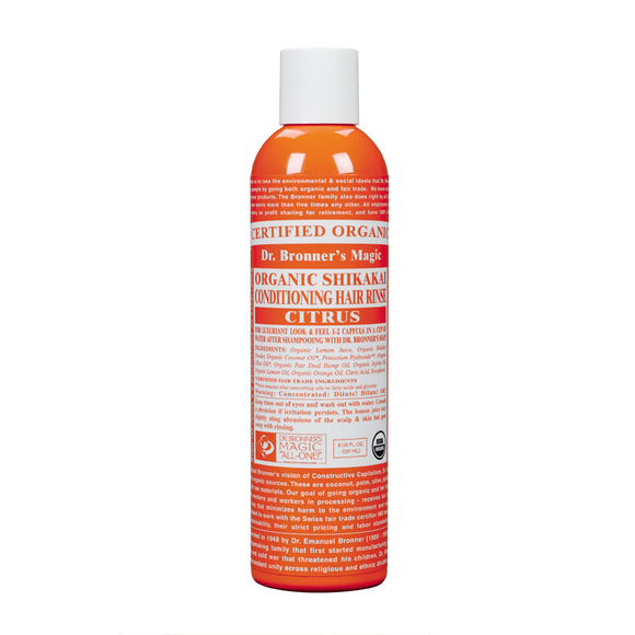 Dr Bronner's Organic Citrus Hair Conditioner Rinse 237ml