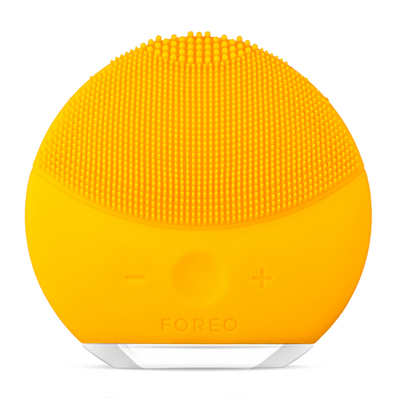 FOREO LUNA Mini 2 Dual-Sided Face Brush For All Skin Types - Sunflower Yellow