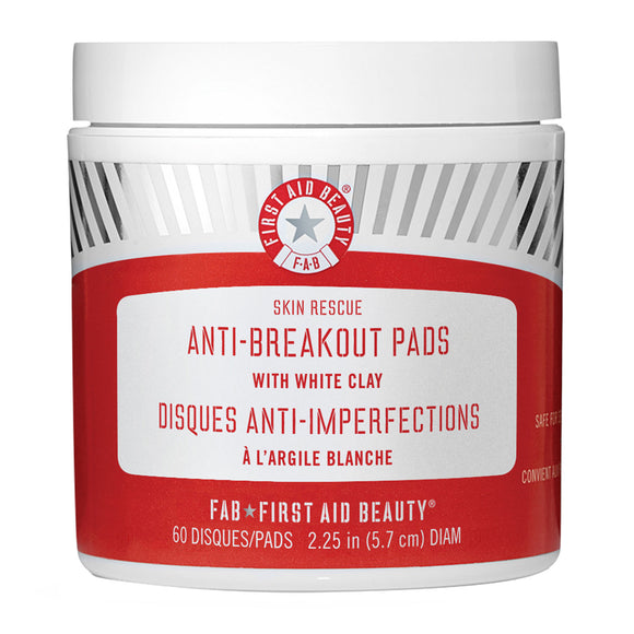 First Aid Beauty Skin Rescue Anti-Breakout Pads with White Clay x 60