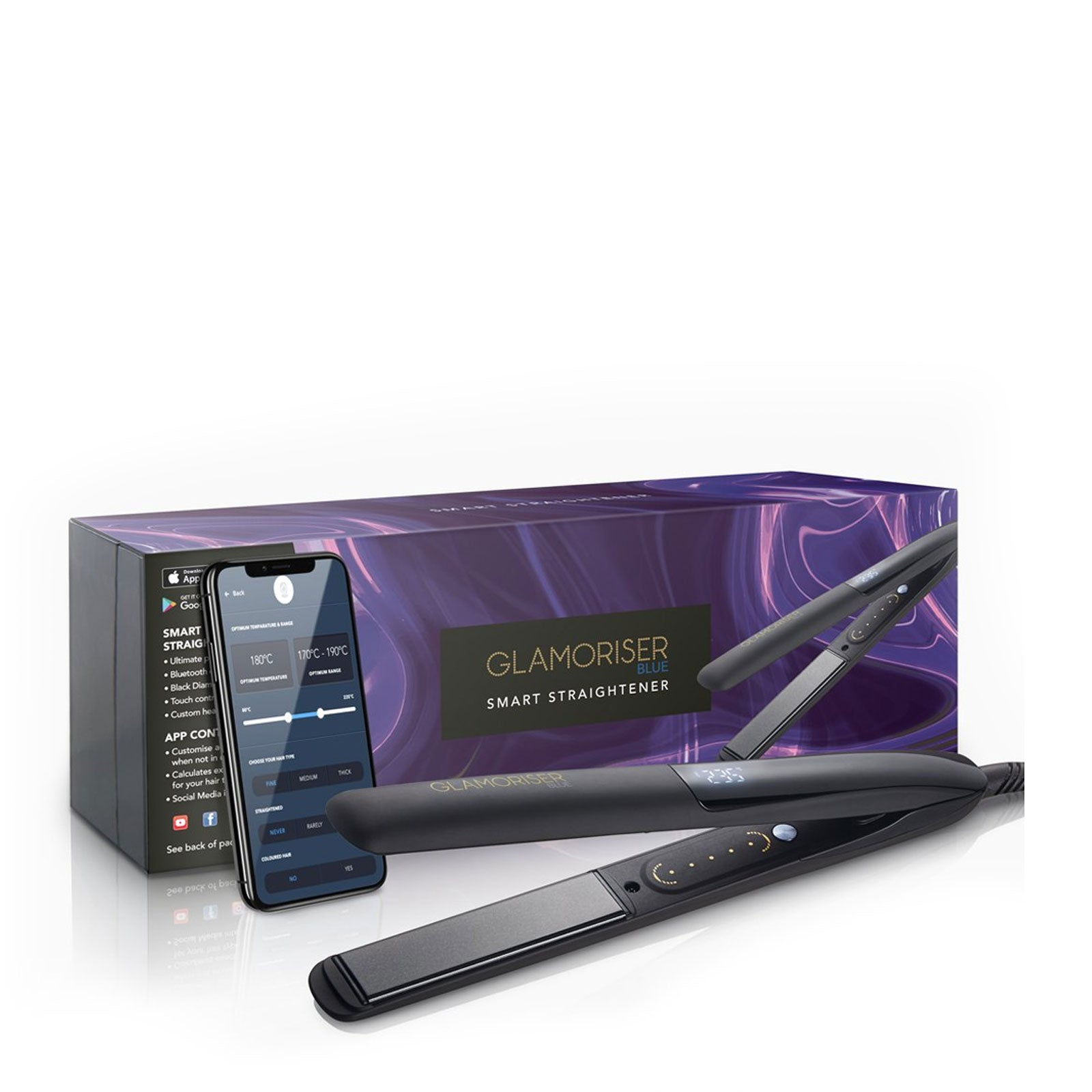 Glamoriser Bluetooth Hair Straightener