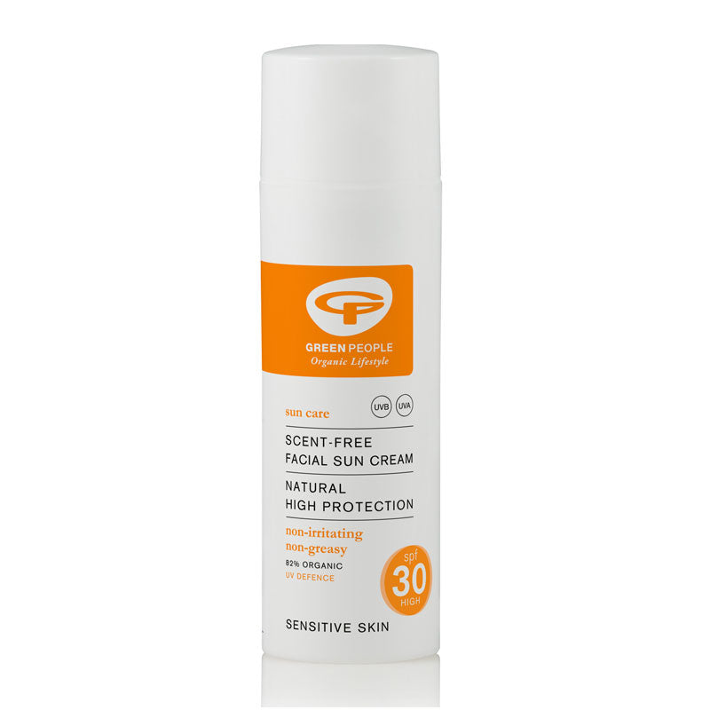 Green People Facial Sun Cream SPF30 Scent Free 50ml