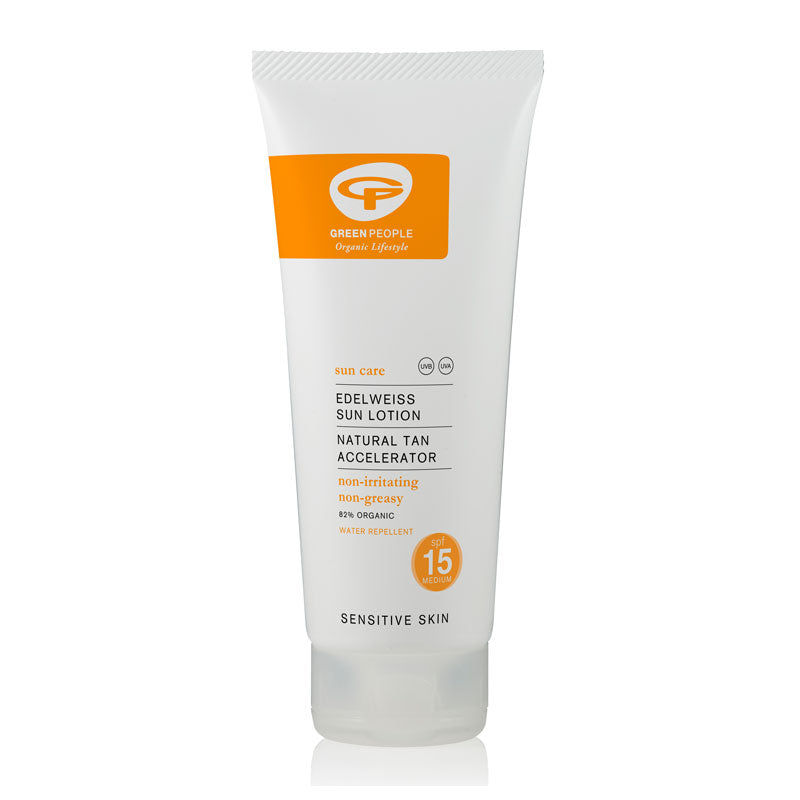 Green People Sun Lotion SPF15 with Tan Accelerator 200ml