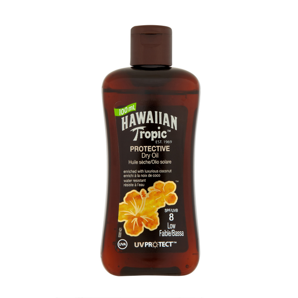 Hawaiian Tropic Protective Oil SPF8 Mini Bottle 100ml