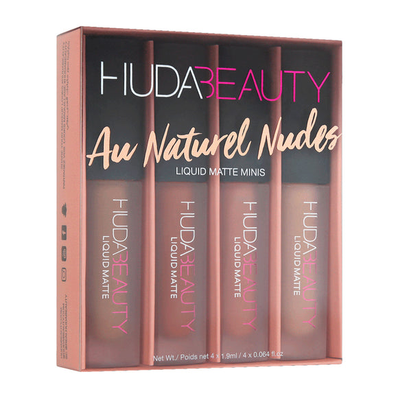 Huda Beauty Liquid Matte Minis Au Naturel Nudes Edition