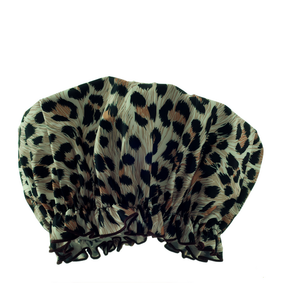Hydréa London Eco-friendly Shower Cap - Leopard
