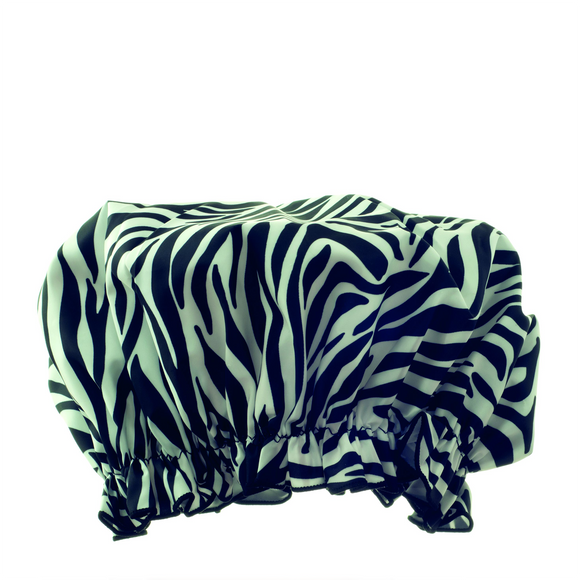 Hydréa London Eco-friendly Shower Cap - Zebra