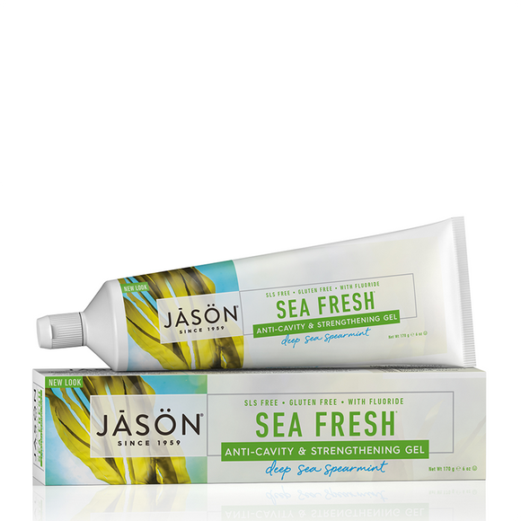 JASON Sea Fresh Strengthening Anti-Cavity All Natural Tooth Gel 170g
