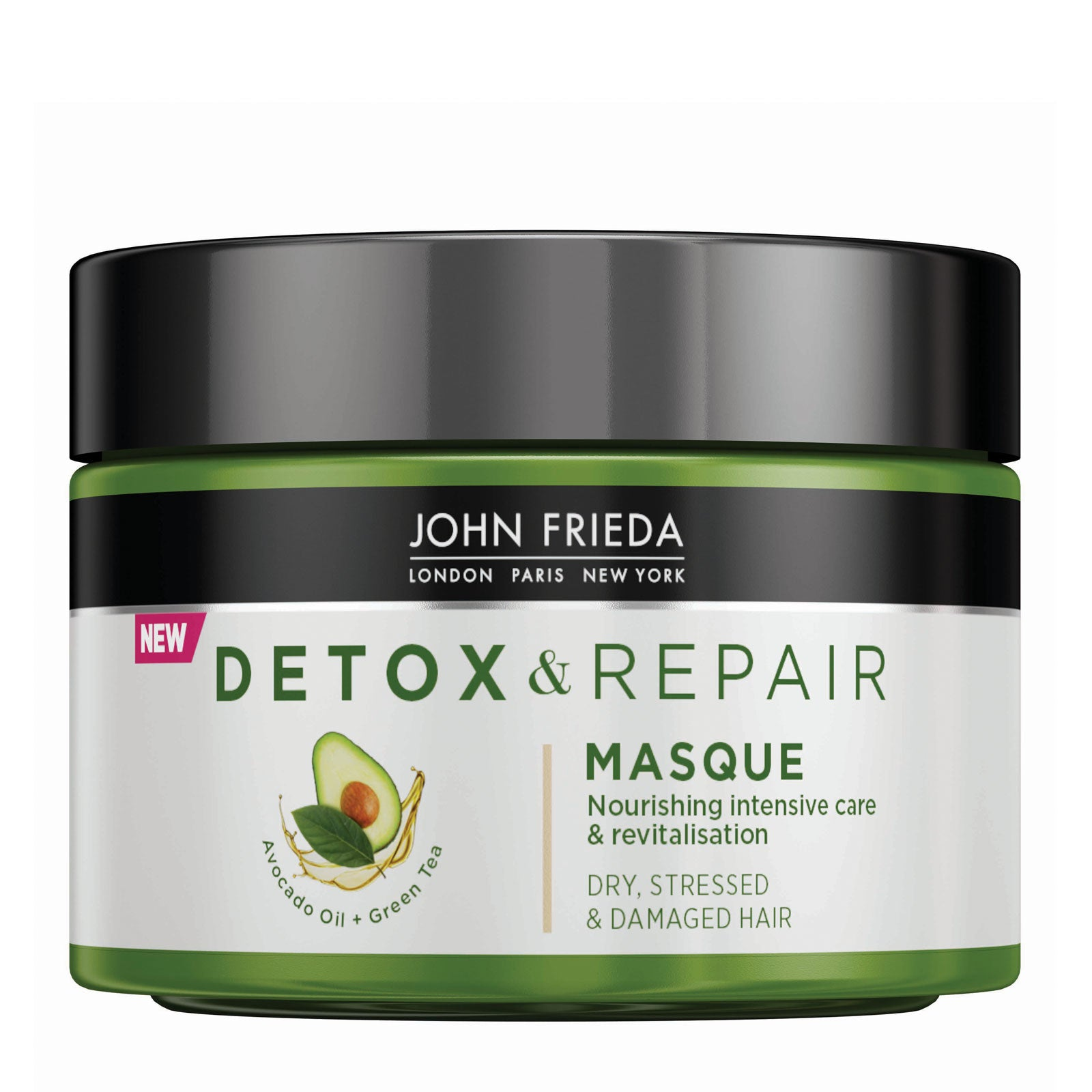 John Frieda Detox and Repair Hair Masque For Dry Stressed & Damaged Hair 250ml
