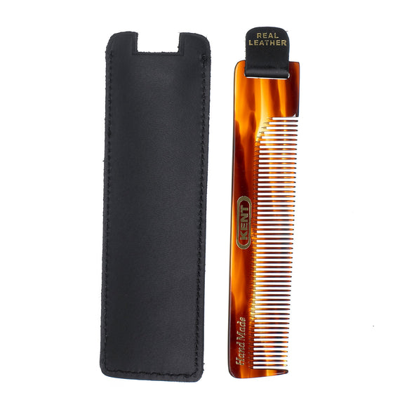 Kent Hair Comb with Black Leather Case and Tab - NU22