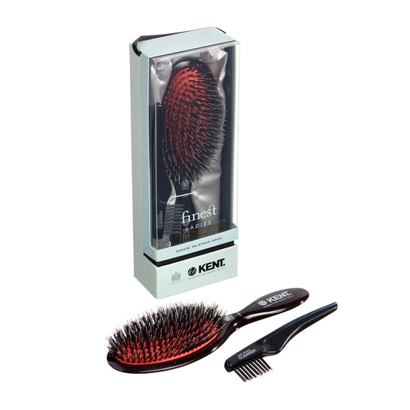 Kent Large Black Porcupine Cushion Brush - CSML