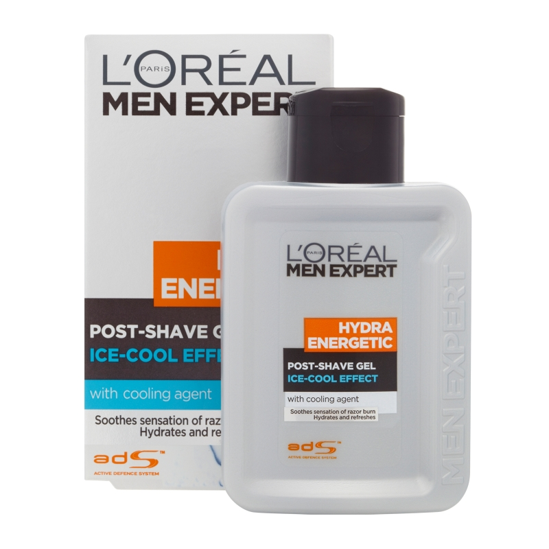 L'Oréal Paris Men Expert Hydra Energetic Post-Shave Gel Ice-Cool Soothing Effect 100ml