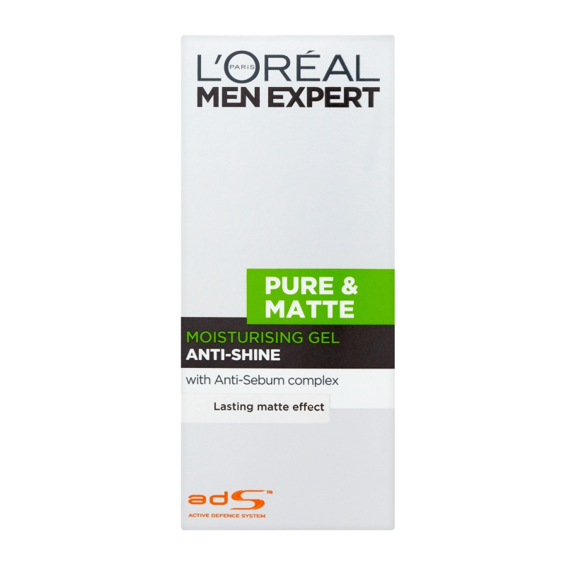 L'Oréal Paris Men Expert Pure & Matte Anti-Shine Moisturising Gel 50ml