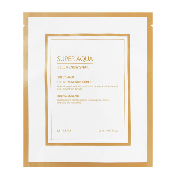MISSHA Super Aqua Cell Renew Snail Hydro-Gel Sheet Mask 28g