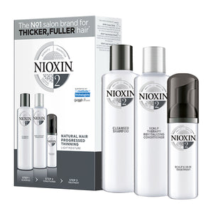 NIOXIN 3-part System Kit 2 for Natural Hair with Progressed Thinning