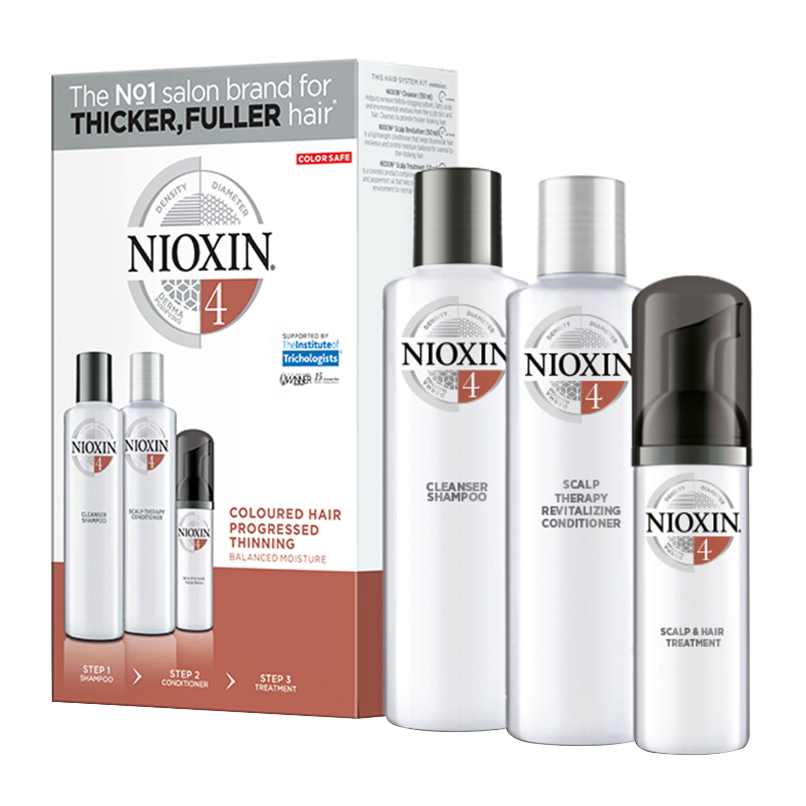 NIOXIN 3-part System Kit 4 for Colored Hair with Progressed Thinning