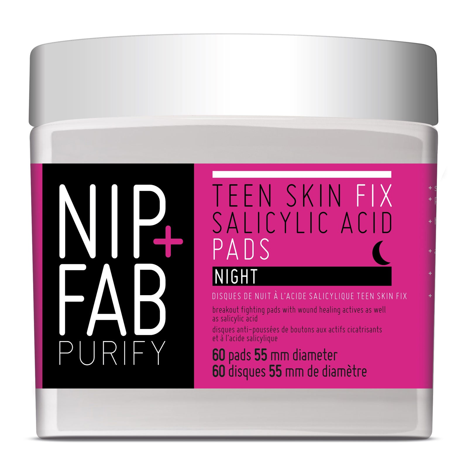 NIP + FAB Teen Skin Fix Salicylic Acid Night Pads x 60 Pads