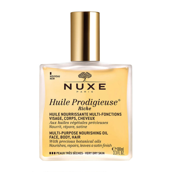NUXE Huile Prodigieuse® Riche Multi-Purpose Nourishing Oil 100ml