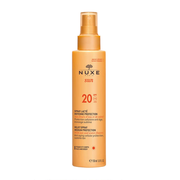 NUXE SUN Milky Spray for Face and Body - Medium Protection SPF20 150ml
