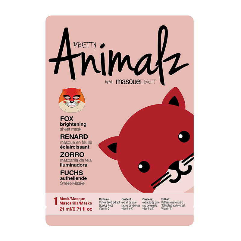 PRETTY Animalz by masqueBAR Fox Sheet Mask
