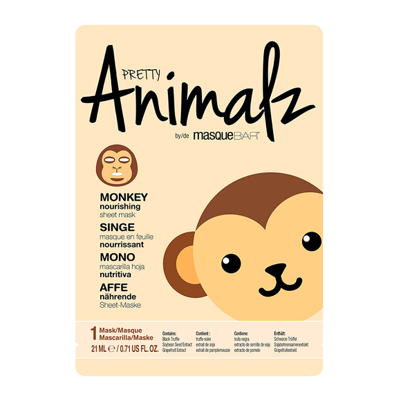 PRETTY Animalz by masqueBAR Monkey Sheet Mask