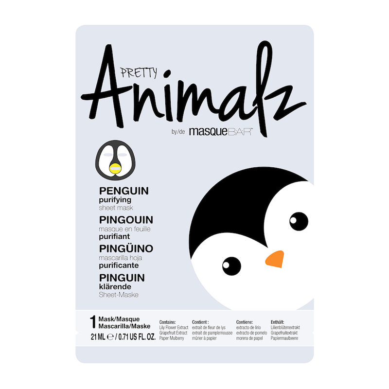 PRETTY Animalz by masqueBAR Penguin Sheet Mask