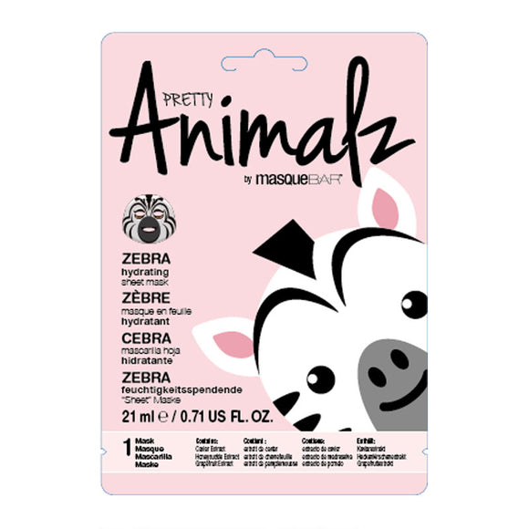 PRETTY Animalz by masqueBAR Zebra Sheet Mask