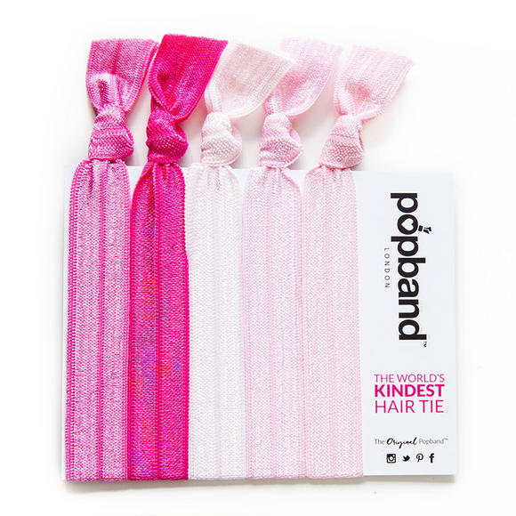 Popband London 'Bubblegum' Hair Ties Multi Pack