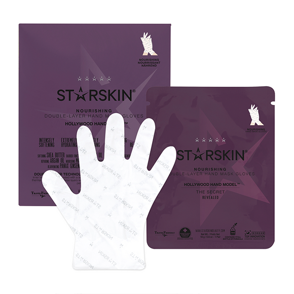 STARSKIN® Hollywood Hand Model™ Nourishing Double-Layer Hand Mask Gloves