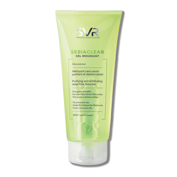 SVR SEBIACLEAR Purifying And Exfoliating Soap-Free Cleanser 200ml