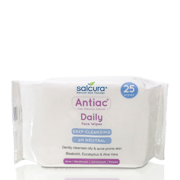 Salcura Antiac Daily Facial Wipes x 25