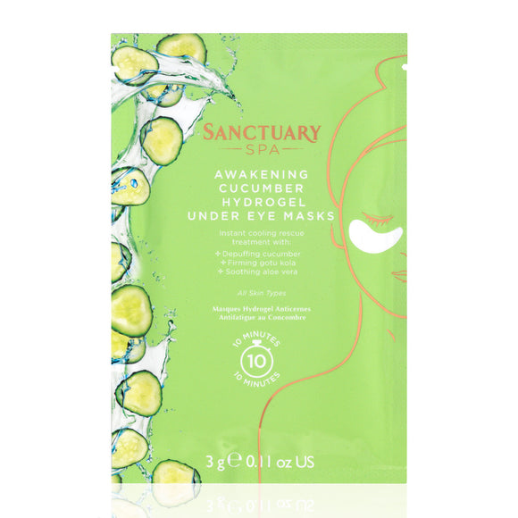 Sanctuary Spa Awakening Cucumber Hydrogel Under Eye Masks