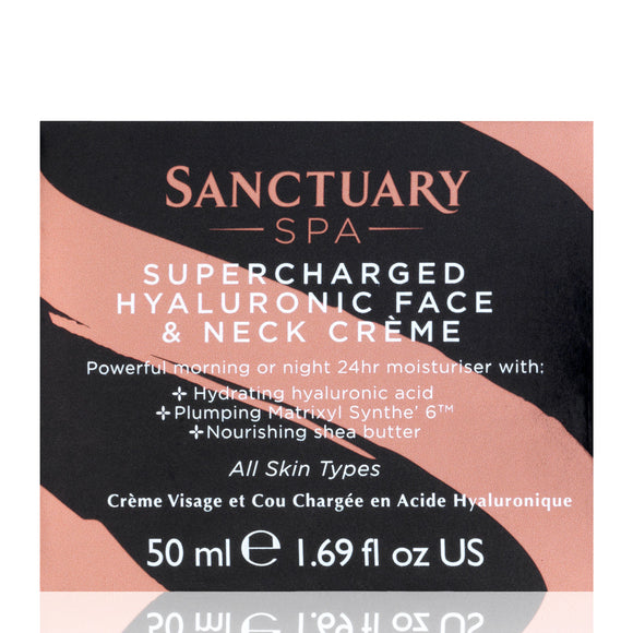 Sanctuary Spa Supercharged Hyaluronic Face & Neck Crème 50ml