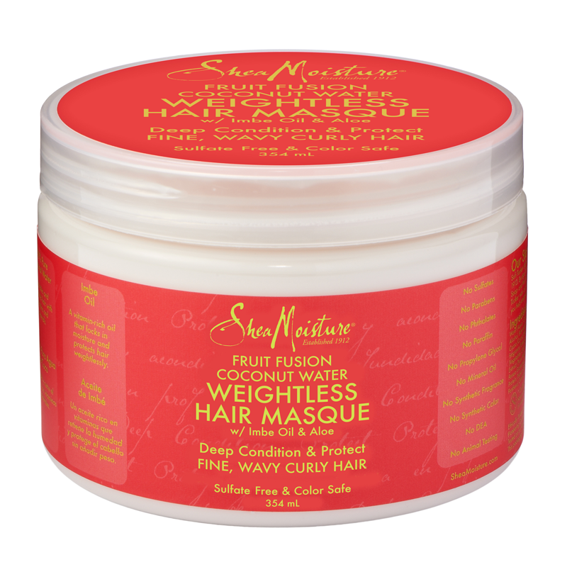 Shea Moisture Fruit Fusion Coconut Water Weightless Masque 340g