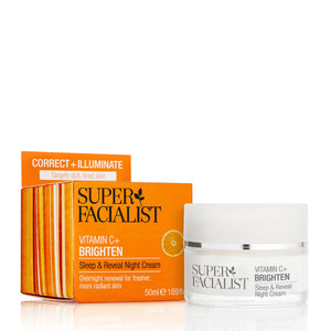 Super Facialist Vitamin C + Brighten Sleep & Reveal Night Cream 50ml