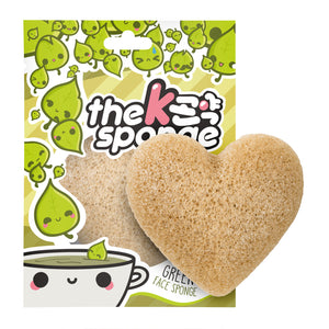 The Konjac Sponge Company The K-Sponge Heart with Green Tea