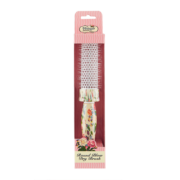 The Vintage Cosmetic Company Round Blow Dry Hair Brush Floral
