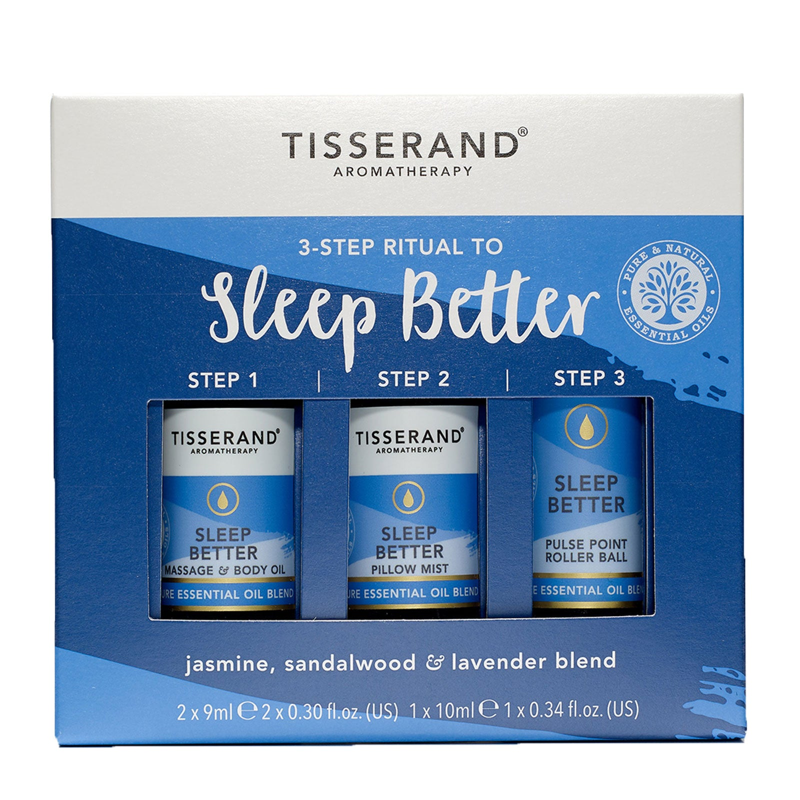 Tisserand Aromatherapy 3-Step Ritual to Sleep Better 3 x 10ml