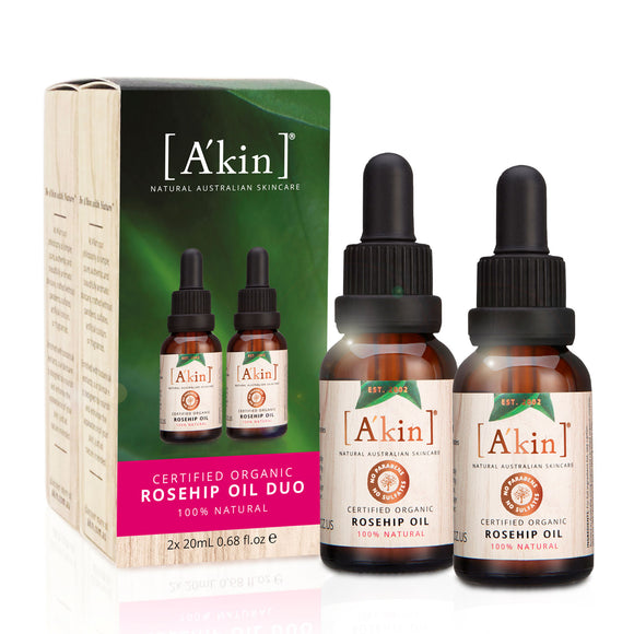 A'kin Certified Organic Rosehip Oil 20ml Duo - Limited Edition