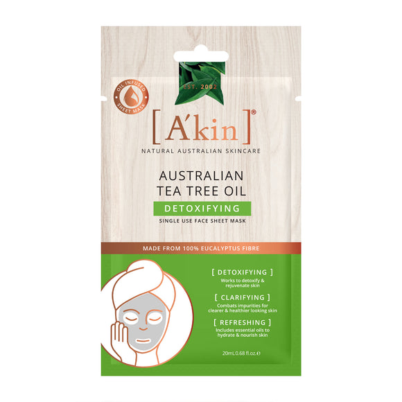A'kin Tea Tree Oil Detoxifying Sheet Mask - Limited Edition