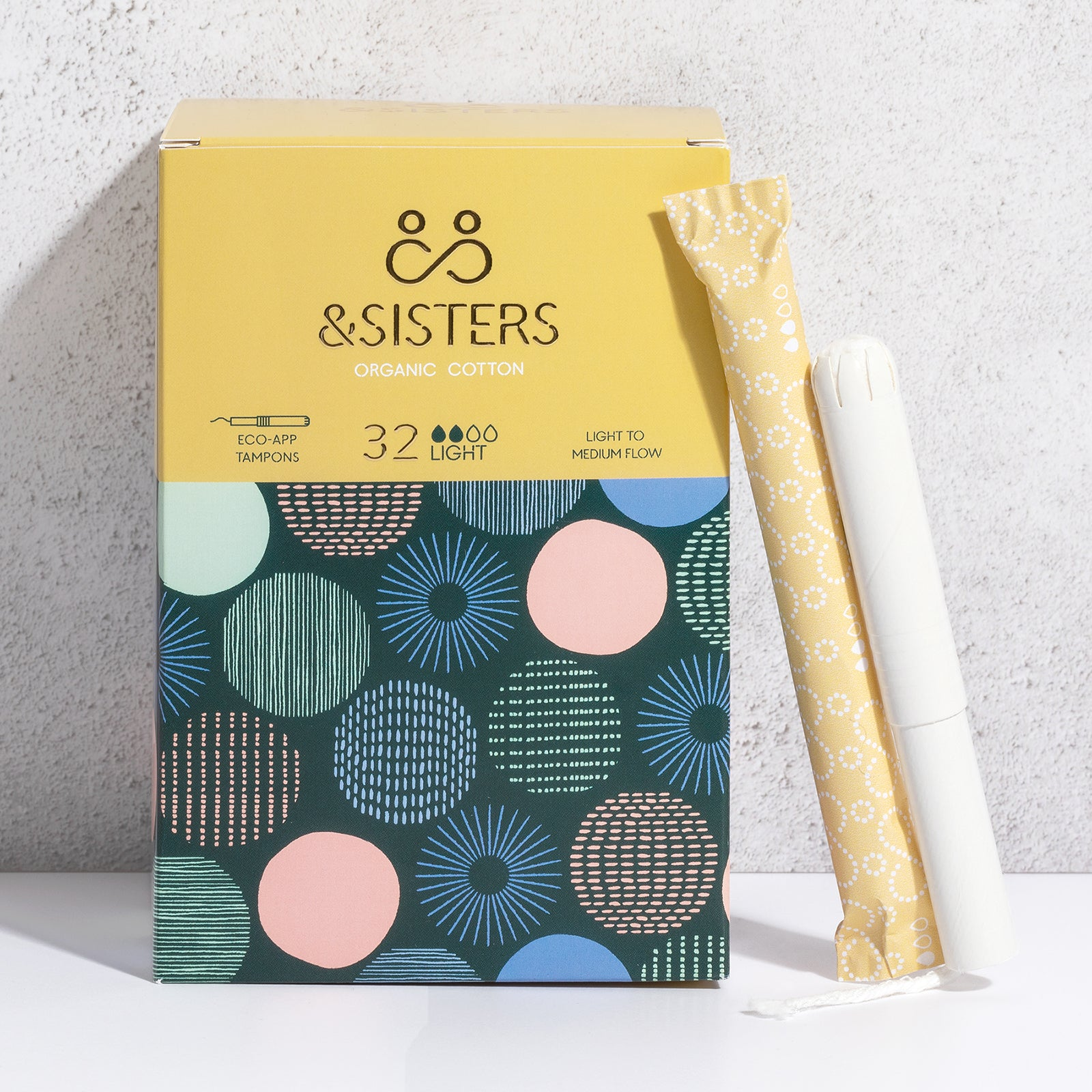 &SISTERS Eco Applicator Tampons Light x 32