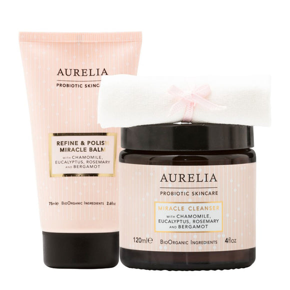 Aurelia Refine and Polish Miracle Balm 75ml & Miracle Cleanser 120ml Kit