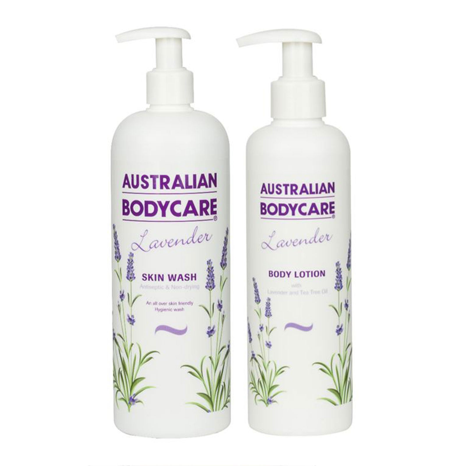 Australian Bodycare Lavender Skin Wash 500ml + Free Lavender Body Lotion 250ml